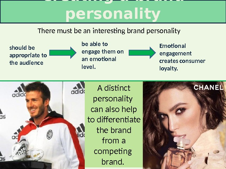 There must be an interesting brand personality should be appropriate to the audience be able to