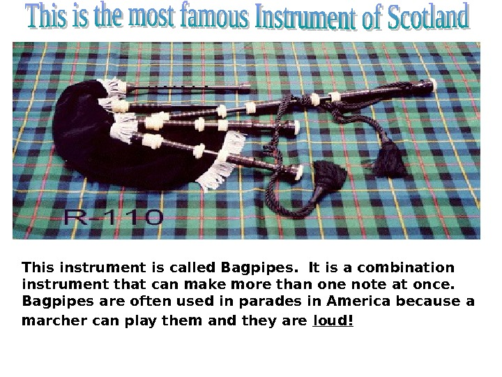 This instrument is called Bagpipes.  It is a combination instrument that can make more than