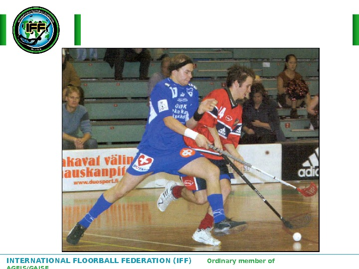 INTERNATIONAL FLOORBALL FEDERATION (IFF)  Ordinary member of AGFIS/GAISF