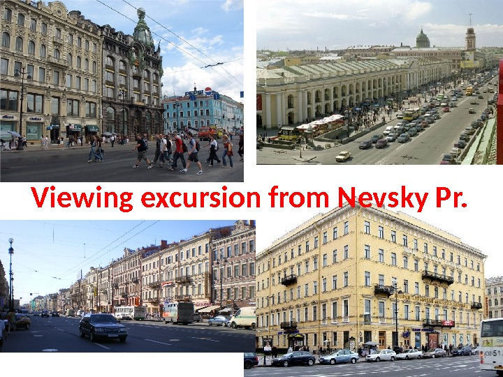 Viewing excursion from Nevsky Pr.