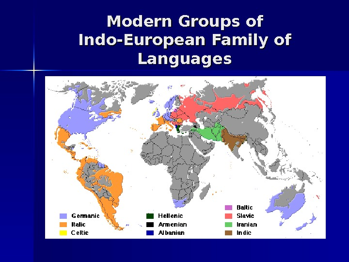 Modern Groups of Indo-European Family of Languages