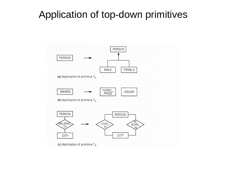 Application of top-down primitives