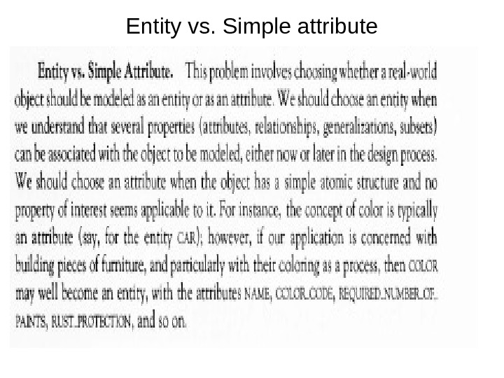 Entity vs. Simple attribute