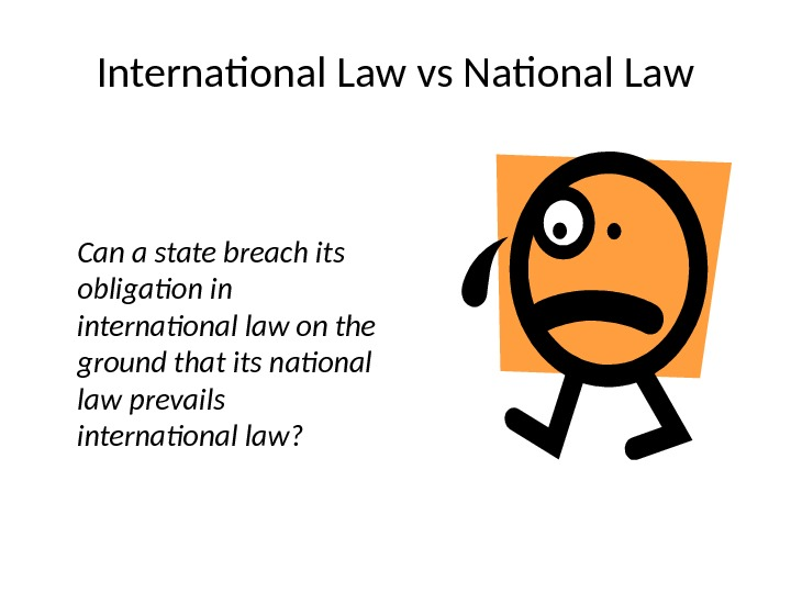 International Law vs National Law Can a state breach its  obligation in international law on