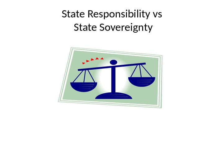 State Responsibility vs State Sovereignty