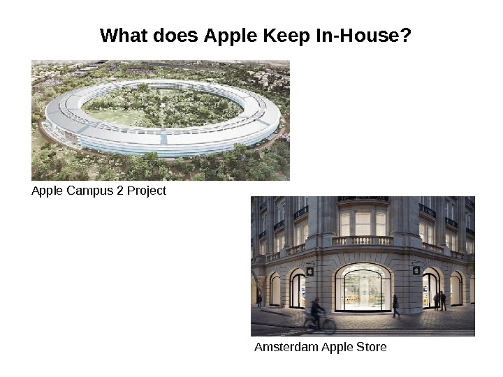 What does Apple Keep In-House? Apple Campus 2 Project Amsterdam Apple Store