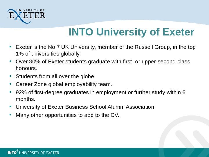 exeter career zone cv