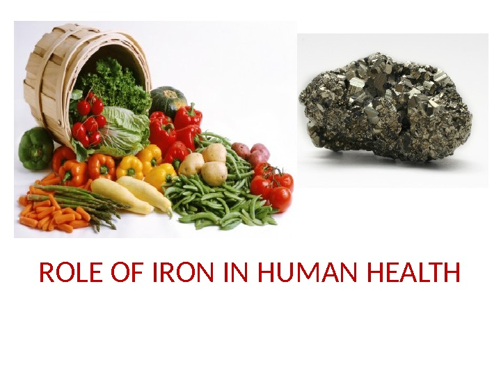 ROLE OF IRON IN HUMAN HEALTH