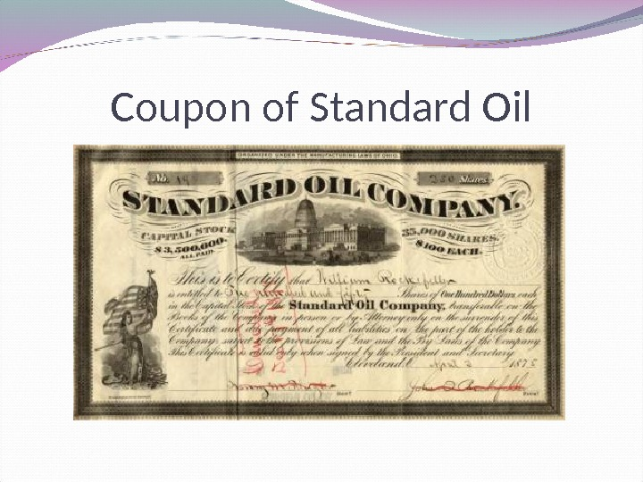 Coupon of Standard Oil