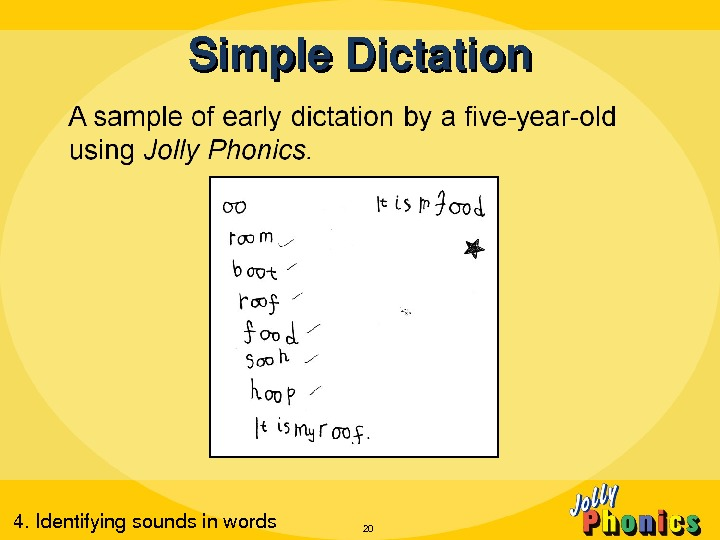 Simple. Dictation 204. Identifyingsoundsinwords