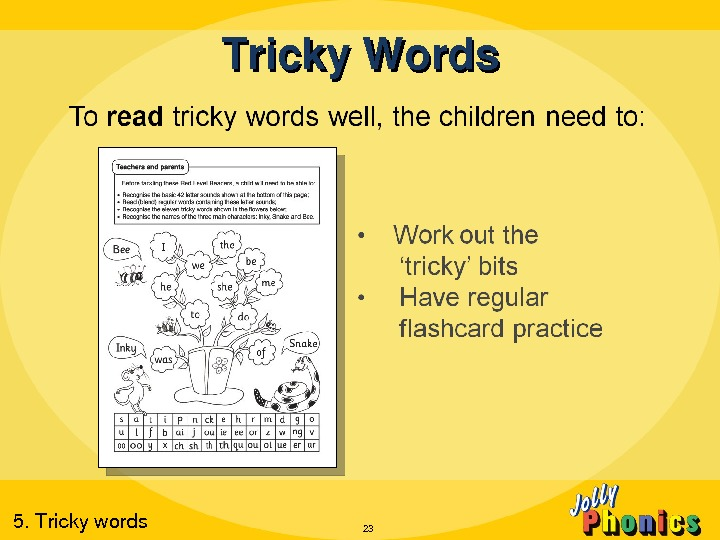 Tricky. Words 235. Trickywords
