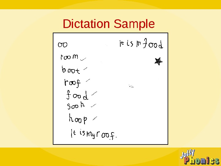 Dictation Sample