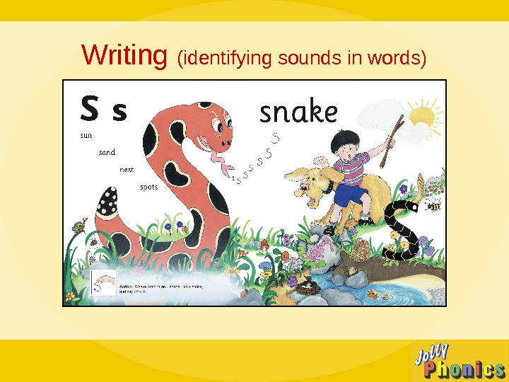 Writing (identifying sounds in words)