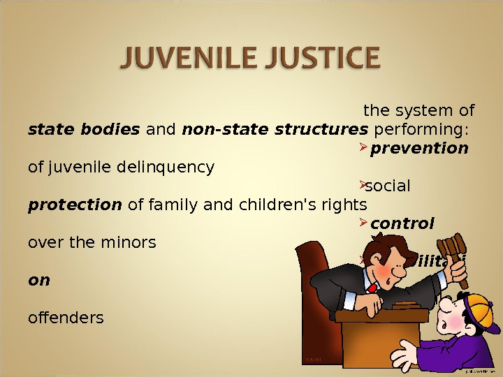 the system of state bodies and non-state structures performing: prevention  of juvenile delinquency social