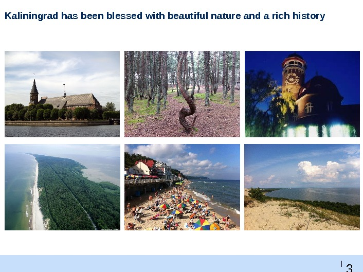 3 5 |Kaliningrad has been blessed with beautiful nature and a rich history