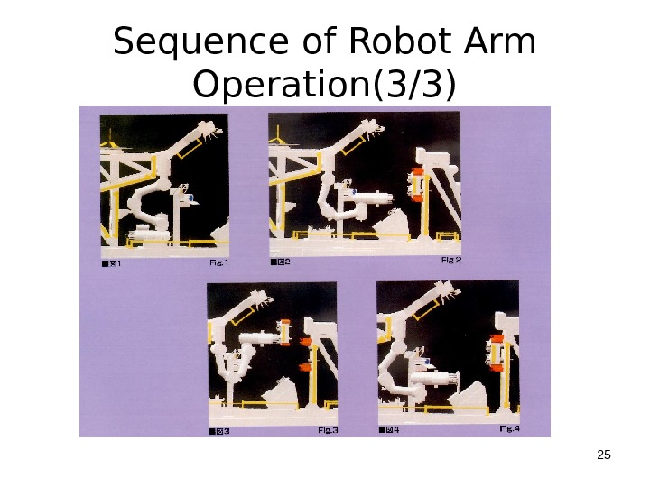 Sequence of Robot Arm Operation(3/3) 25