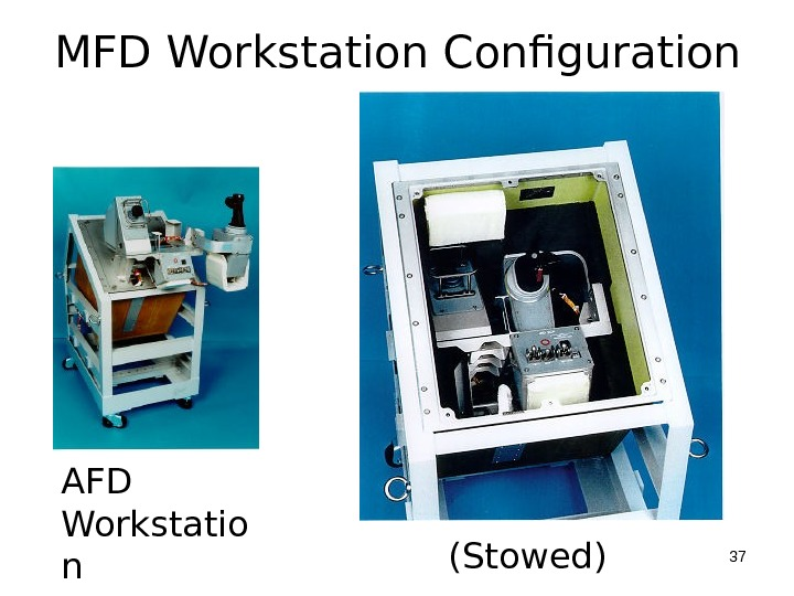 MFD Workstation Configuration AFD Workstatio n (Stowed) 37