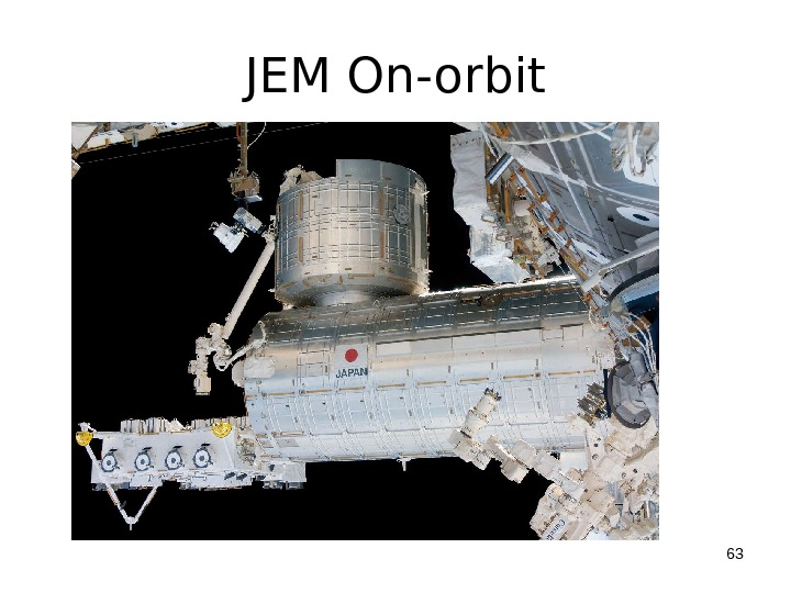 JEM On-orbit 63