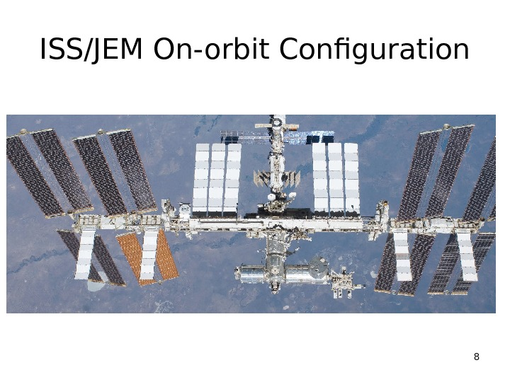 ISS/JEM On-orbit Configuration 8