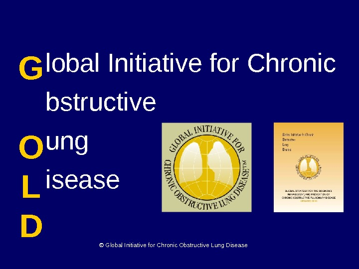 lobal Initiative for Chronic bstructive ung isease. G  O L D © Global Initiative for