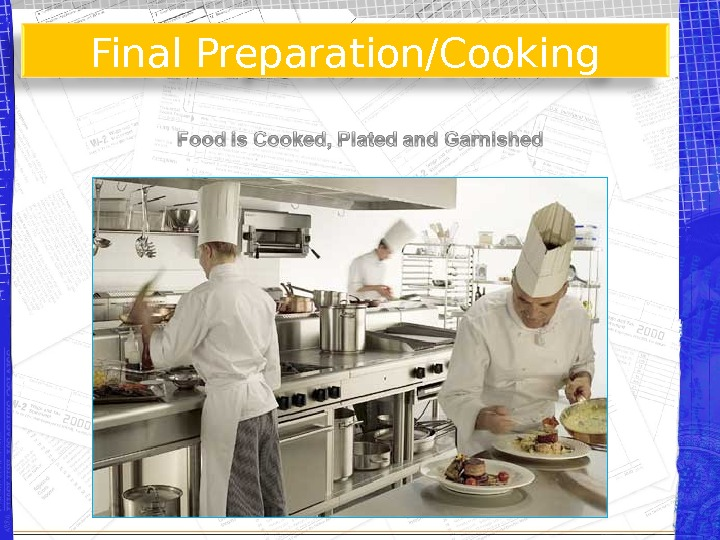 Final Preparation/Cooking
