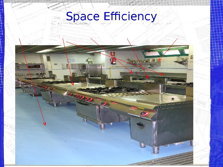 Space Efficiency Isle Space  Work Surface  Sink  Storage Space Equipment Storage