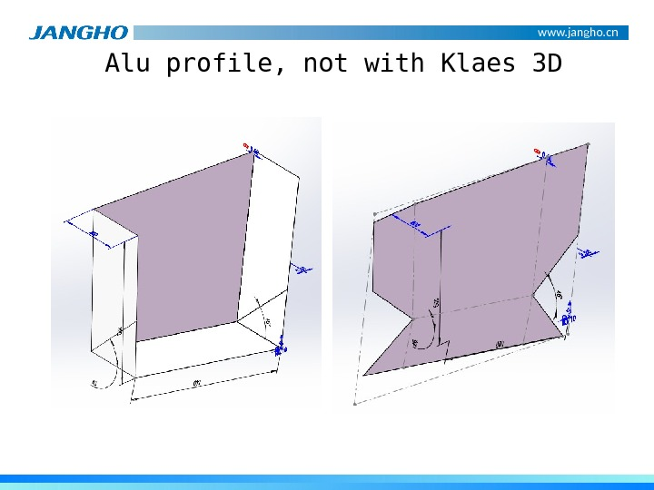 www. jangho. cn Alu profile, not with Klaes 3 D