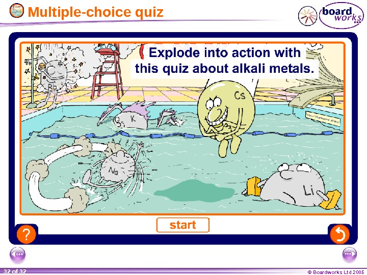 © Boardworks Ltd 200532 of 32  Multiple-choice quiz
