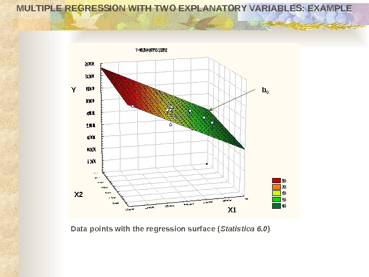 MULTIPLE REGRESSION WITH TWO EXPLANATORY VARIABLES: EXAMPLEY =461, 850+0, 671*X 1 -1, 383*X 2 800