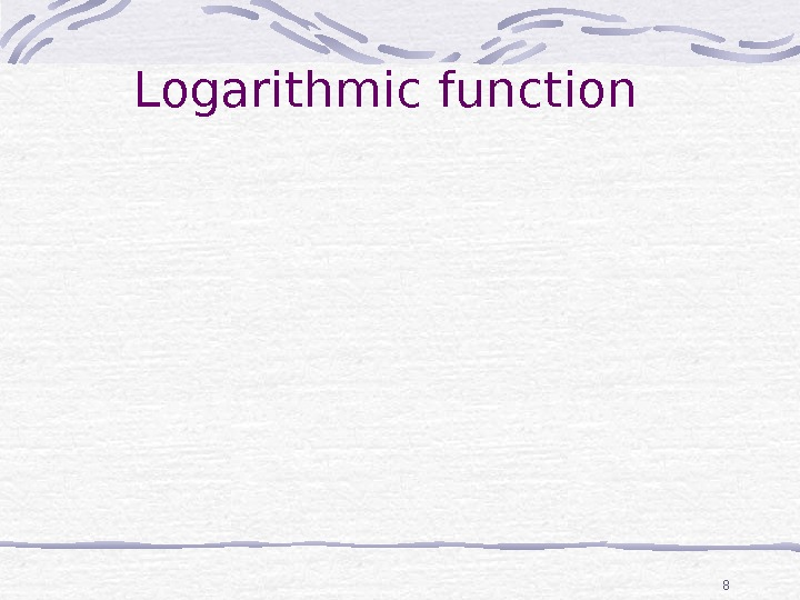 8 Logarithmic function number of methylene groups, n 0 100 200 300 400 500 Tf(exp)/ K