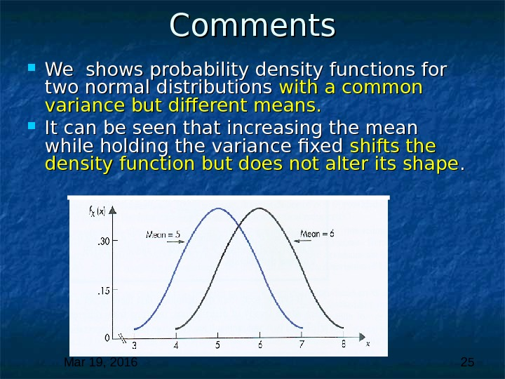 Mar 19, 2016  25 Comments We shows probability density functions for two normal distributions with
