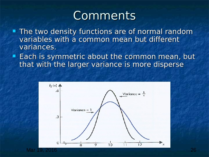 Mar 19, 2016  26 Comments The two density functions are of normal random variables with