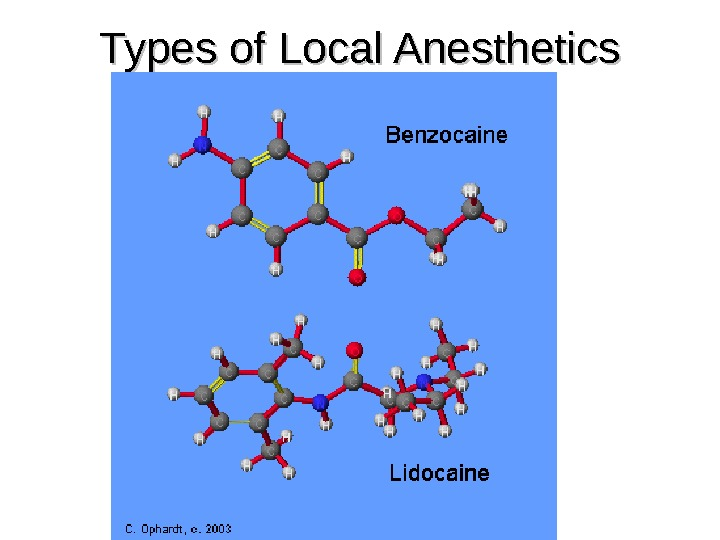 Types of Local Anesthetics