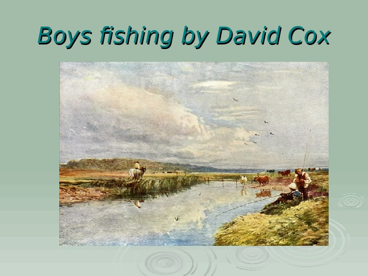 Boys fishing by David Cox