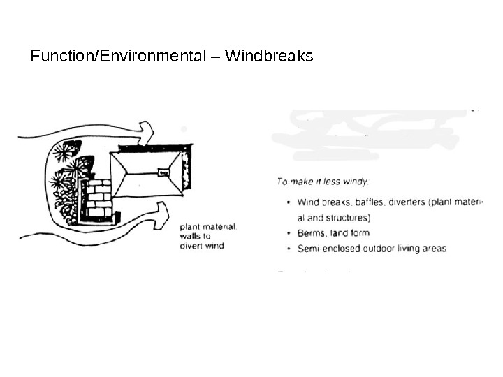 Function/Environmental – Windbreaks