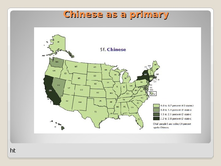 Chinese as a primary ht