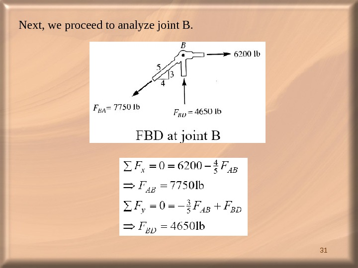 31 Next, we proceed to analyze joint B.