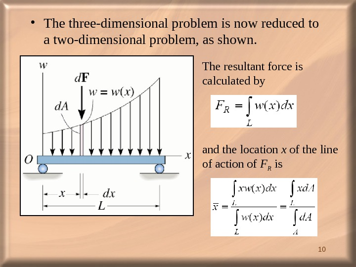 10 • The three-dimensional problem is now reduced to a two-dimensional problem, as shown.  The