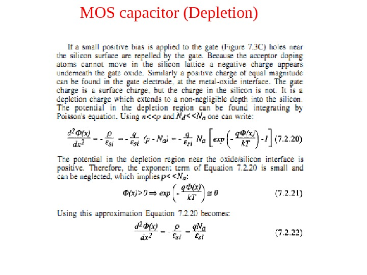 MOS capacitor (Depletion)