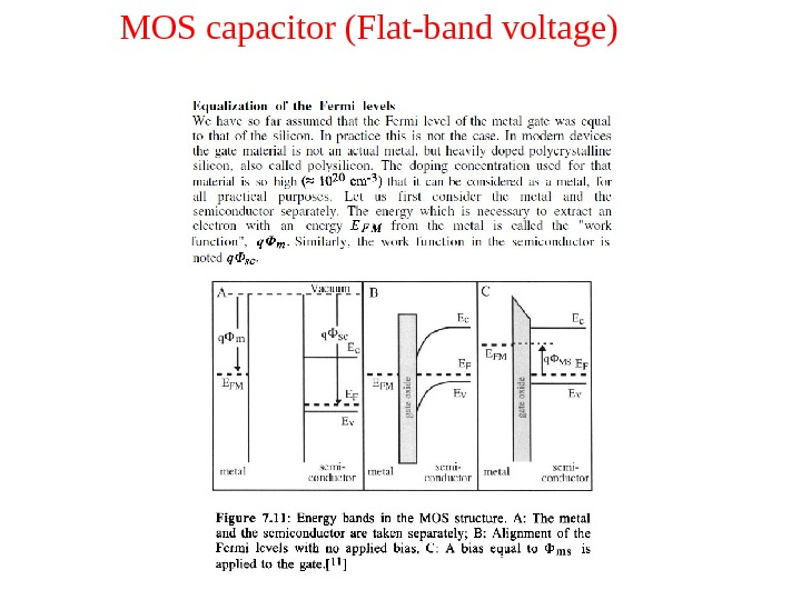 MOS capacitor (Flat-band voltage)