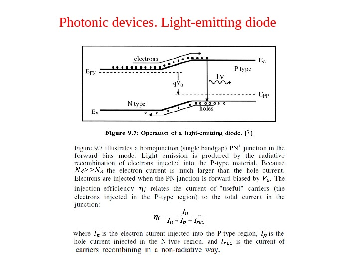 Photonic devices. Light-emitting diode