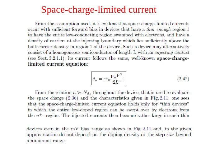 Space-charge-limited current