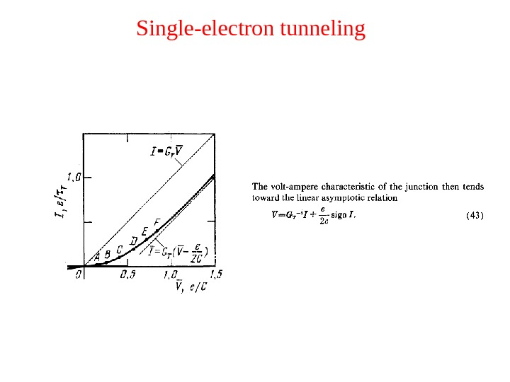 Single-electron tunneling