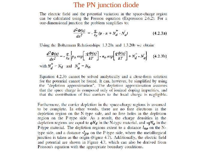 The PN junction diode