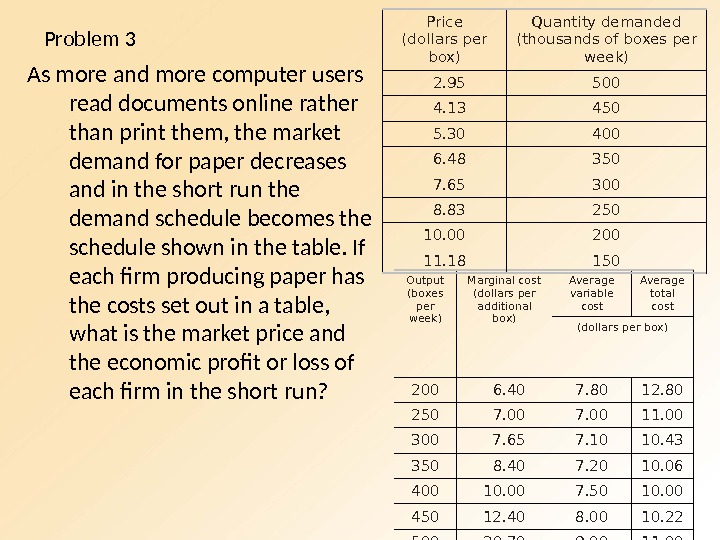 Problem 3 As more and more computer users read documents online rather than print them, the