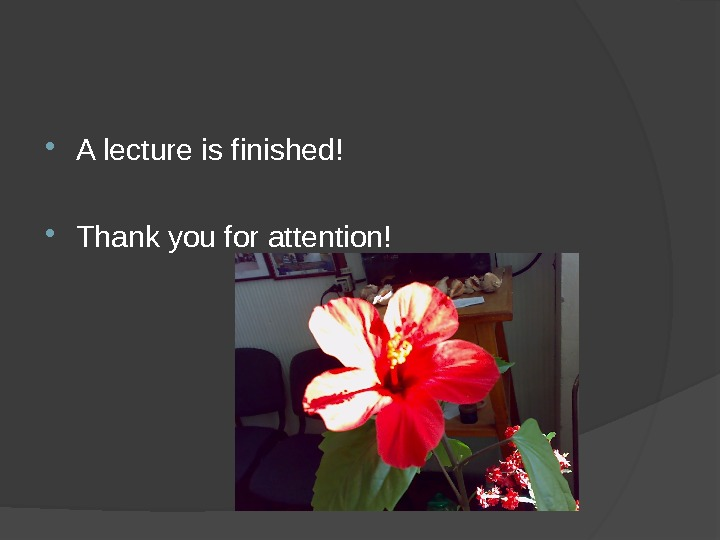 A lecture is finished!  Thank you for attention!