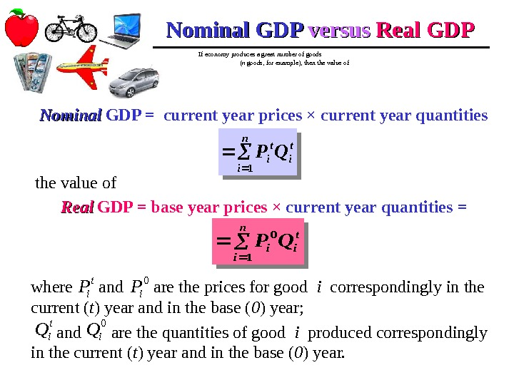 If economy produces a great number of goods    ( n goods,