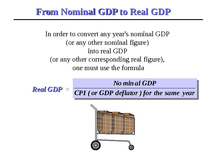 In order to convert any year's nominal GDP (or any other nominal figure) into real GDP