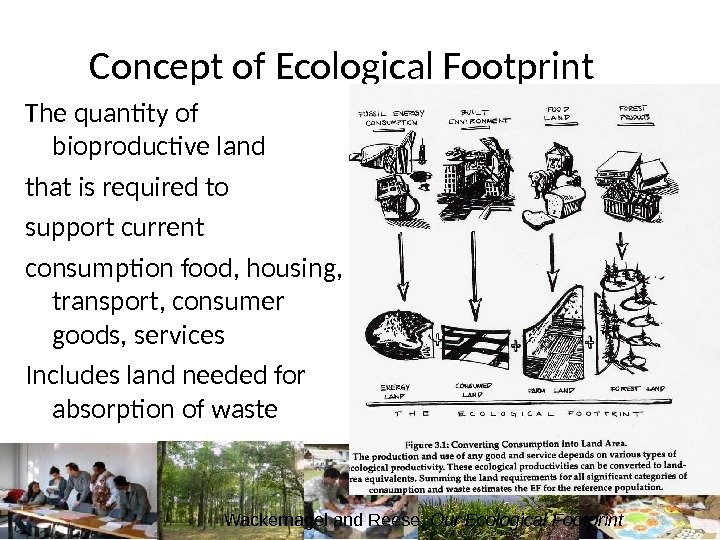 Concept of Ecological Footprint The quantity of bioproductive land that is required to support current consumption