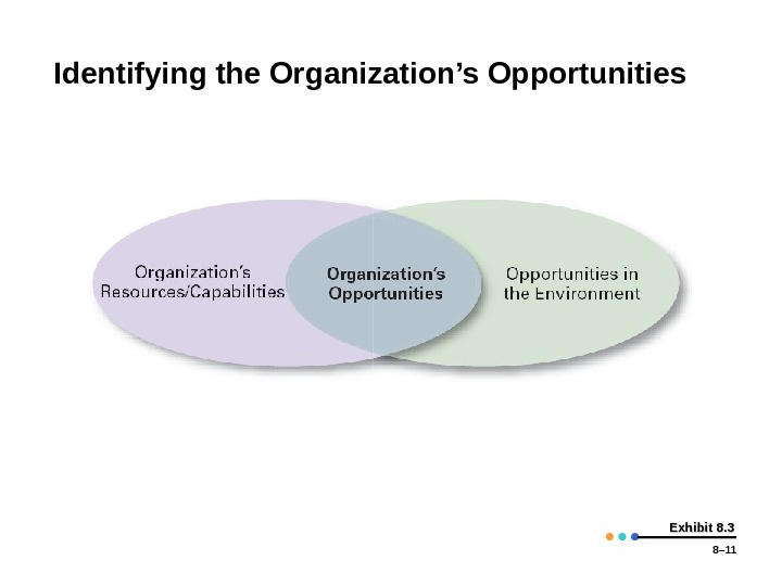 8– 11 Exhibit 8. 3 Identifying the Organization's Opportunities